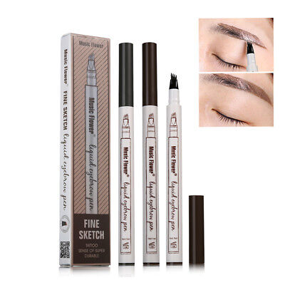 Microblading Eyebrow Tattoo Pen Waterproof Fork Tip Sketch Makeup Cosmetic Tools