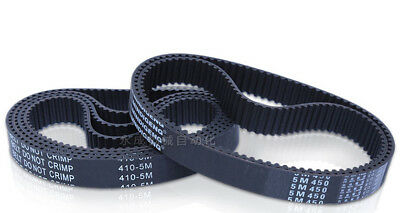 1PC HTD 5M Timing Belt 5mm Pitch 15-20mm Wide - Select 180mm to 990mm