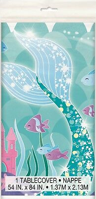 Mermaid Ocean Party Birthday Tablecover Table Cover Cloth Plastic Tablecloth