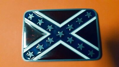 Red and Star  Flag Belt Buckle  .Suit Southern Gentleman or Rebel