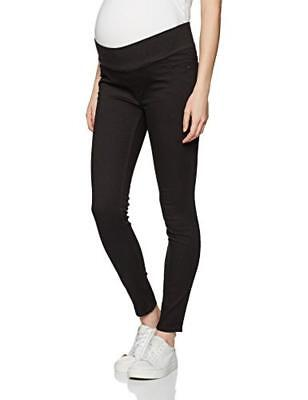 (TG. 38) New Look Maternity 3927883, Leggings Prémaman Donna, Nero, 38 - NUOVO