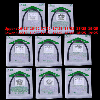 1Bag Dental Super Elastic Niti Ovoid Rectangular 016*016 -19*25 U/ L Arch Wire