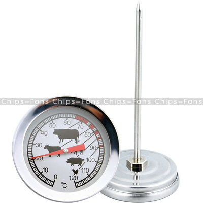 Instant Read Probe Stainless Steel Thermometer BBQ Food Cooking Meat Gauge