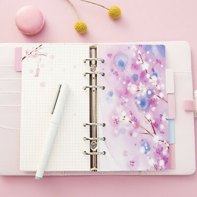 5sheets Cherry Blossom Landscape Diary Loose Spiral Dividers Index Page