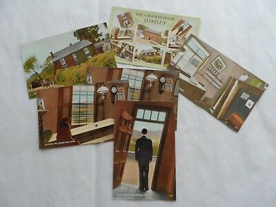 Job Lot Collection 6 Old Postcards Crooked House Himley Dudley Wolves