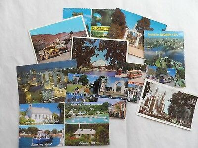 Job Lot Collection 10 Old Postcards New Zealand Australia topo