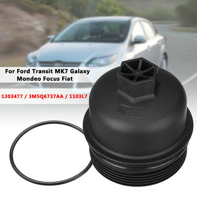 1pc Oil Filter Housing Top Cover Cap For Ford Focus Kuga Mondeo Smax Fiat Doblo