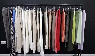 Job Lot Of 25 Ladies Summer Trousers; Mixed Sizes & Styles