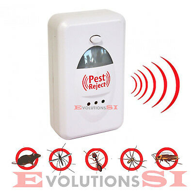 Pest Reject Repelente Anti Plagas Roedores Insectos Electrico Ultrasonido