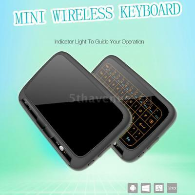 Voll Touchpad H18+ Mini Wireless Tastatur 2.4Ghz Blacklit für TV BOX Pad PC M6G0
