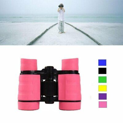 4x30 Children Pink Binoculars Pocket Rubber Telescope For Kids Outdoor Games