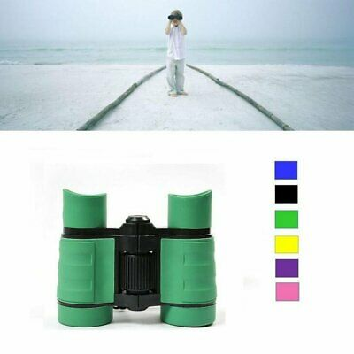 4x30 Children Green Binoculars Pocket Rubber Telescope For Kids Outdoor Games