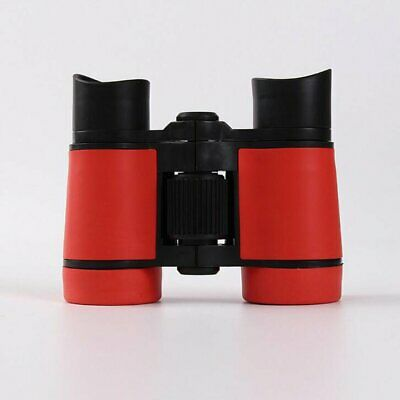 4x30 Children Red Binoculars Pocket Rubber Telescope For Kids Outdoor Games