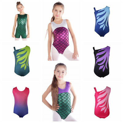 Kids Girl Ballet Dancewear Gymnastics Leotard Bodysuit Skating Costumes 4-12Y AU