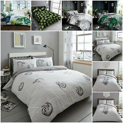 Luxury Tropical Leaf / Weed Duvet Quilt Cover Bedding Bed Linen Set With Pillow
