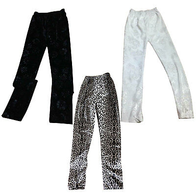 Girls Full Length Velvet Velour Leggings Girls Trouser Jogging Pants