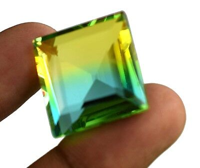 37.60 Ct Certified Square Cut Russian Bi-Farbe Alexandrit lose Edelstein