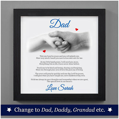 Personalised 1st First Fathers Day Poem Dad Daddy From Baby Daughter