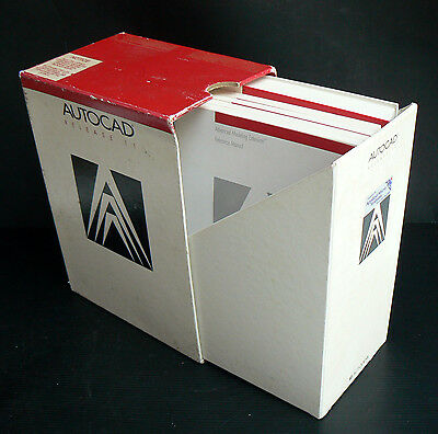 5x Vintage 1990 AutoCAD Release 11 Reference Manual Instruction Book Computer