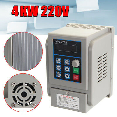 AC 220V 4KW 20A Monofase di frequenza Inverter Variable VFD Per Trifase Motore