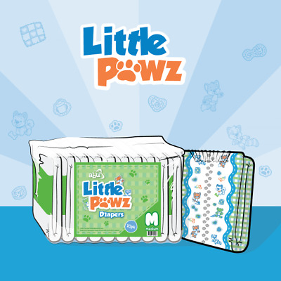 ABUniverse ABU Little Pawz Diapers ABDL Little Paws - Pack of 10
