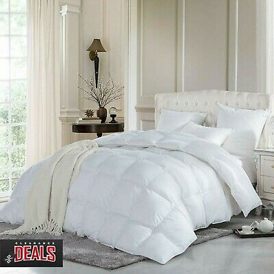 Deluxe Duck Feather & Down Quilt Duvet 13.5 Tog Anti Allergy Hotel Quality