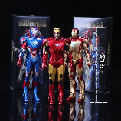 Revoltech Movie Revo No.004 Iron Man MK45 PVC Action Figure Toy Collection Gift