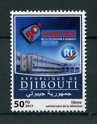 Djibouti 2017 MNH Djibouti Television TV 50 Yrs 1v Set Architecture Stamps