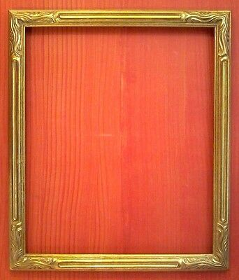 """20 X 24 Std Art Nouveau Picture Frame Carved Gold Leaf 2"""" Wide Free Shipping!"""