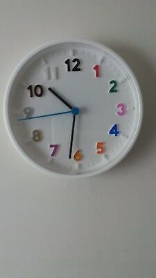 IKEA STOMMA WALL CLOCK Multi Coloured Numbers
