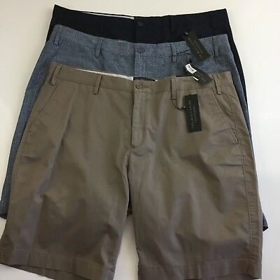 The Mens Store Size 40 Khaki Shorts Chino Bloomingdales Blue Brown NEW N37