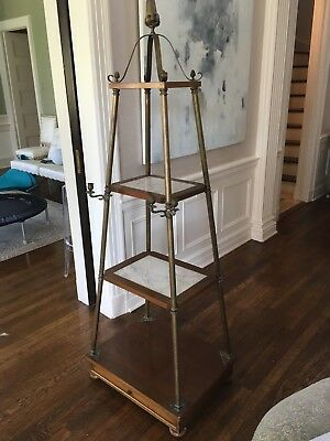 Exquisite Neoclassical Marble Brass Etagere Jansen French Antique