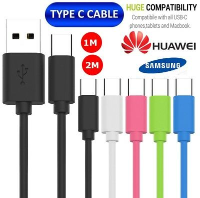 USB C 3.1 Type-C Data Sync Charger Charging Cable Strong Lead Extra Long 1m 2m
