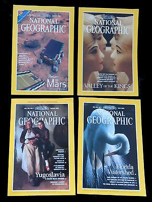 4 x National Geographic Magazines  1990 & 1998