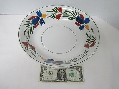 """Vintage Ideal Ironstone Chase Import Hand Painted Serving Bowl 12"""" Round"""