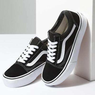 58ea673cacaa94 Women Vans Old Skool Black Skateboarding Shoes Classic Sneakers Suede All  Sizes