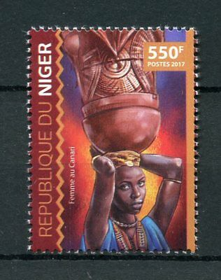 Niger 2017 MNH Canary Woman 1v Set Cultures Traditions Ethnicities Stamps