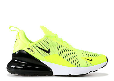 Nike Air Max 270 Volt Black Dark Grey White Neon Yellow AH8050-701 Sz: 8-13
