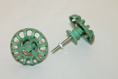 ONE NEW Metal Faucet Valve Handle Cabinet Door Drawer Knob Steampunk Green