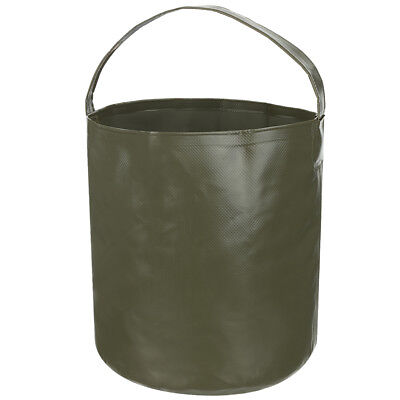 Fox Outdoor Folding Bucket 10L Collapsible Bowl Water Carrying Handle OD Green