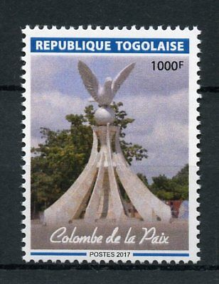 Togo 2017 MNH Dove of Peace Statue 1v Set Doves Birds Art Architecture Stamps