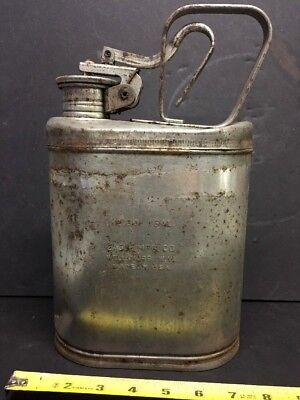 Old 1301 Eagle Mfg. Co. 1 Gallon Stainless Steel Safety Can Vintage Lab Gas Oil