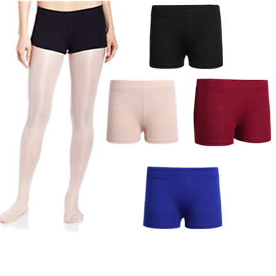 Kids Girls Cotton Stretch Booty Shorts Gymnastic Dance Yoga Workout Activewear