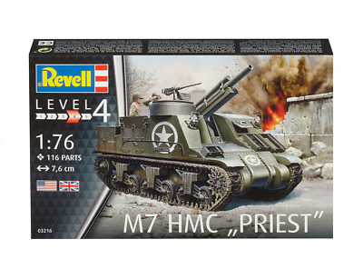 M7 HMC Priest 1:76 Level 4 Revell Model Kit