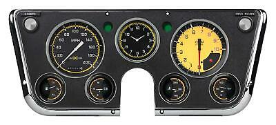1967-1972 Chevrolet Chevy Truck Direct Fit Gauge Auto Cross Yellow CT67AXY