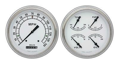 1951-1952 Chevrolet Chevy Direct Fit Gauge Classic White CH51CW52