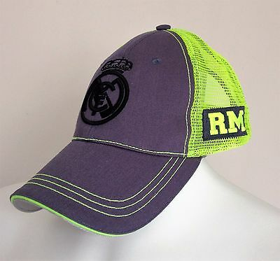Real Madrid Grey/Green Snapback Cap Size 56cms Brand New With Tags
