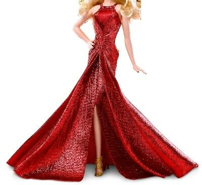 Beautiful Barbie Red lame gown fits silkstone model muse barbie