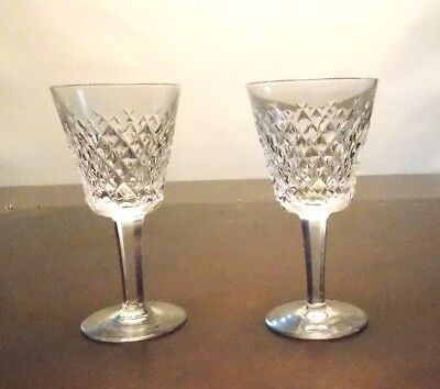 """Set of 2 Waterford Crystal  """"Alana"""" Claret Wine Glasses 5 3/4"""""""