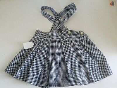 Vintage Debby Dare Skirt with Straps Black White Hounds Tooth Toddler Size 2
